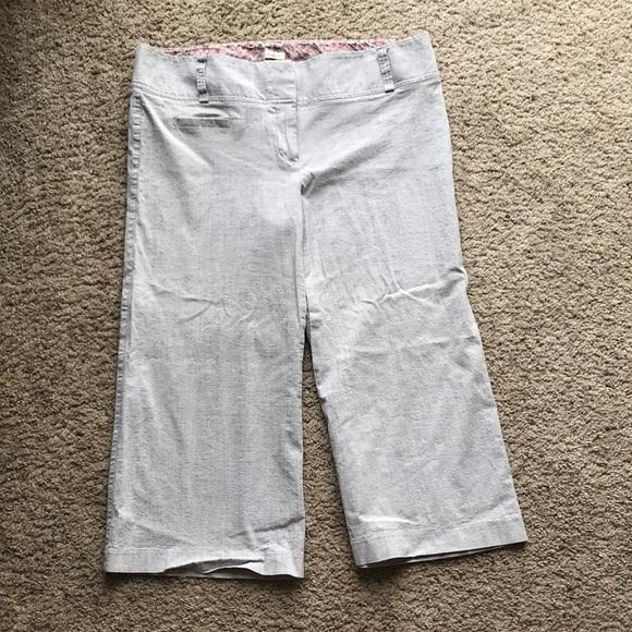 Studio Y Pants - Gray cropped capri pants